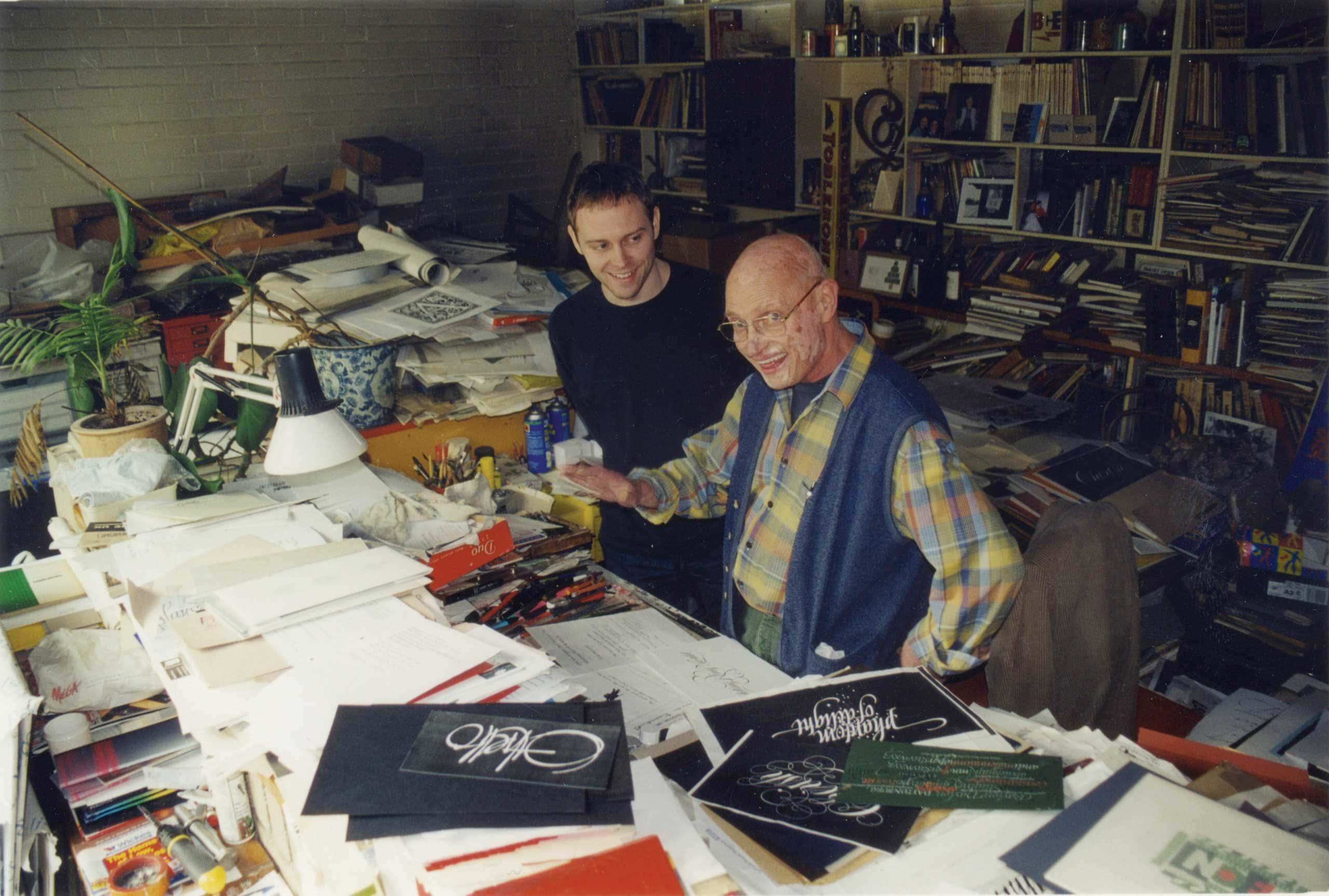 Dan + Tony in Tony's studio - Circa 2004
