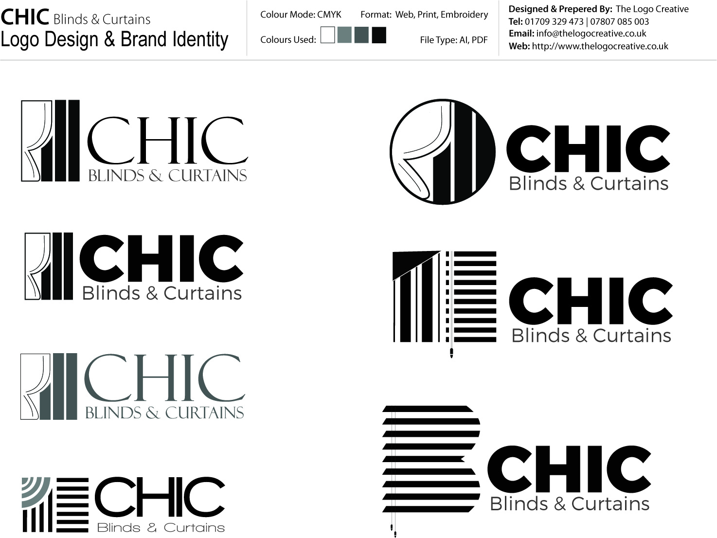 CHIC Blinds & Curtains Logo Design Master Display_TLC