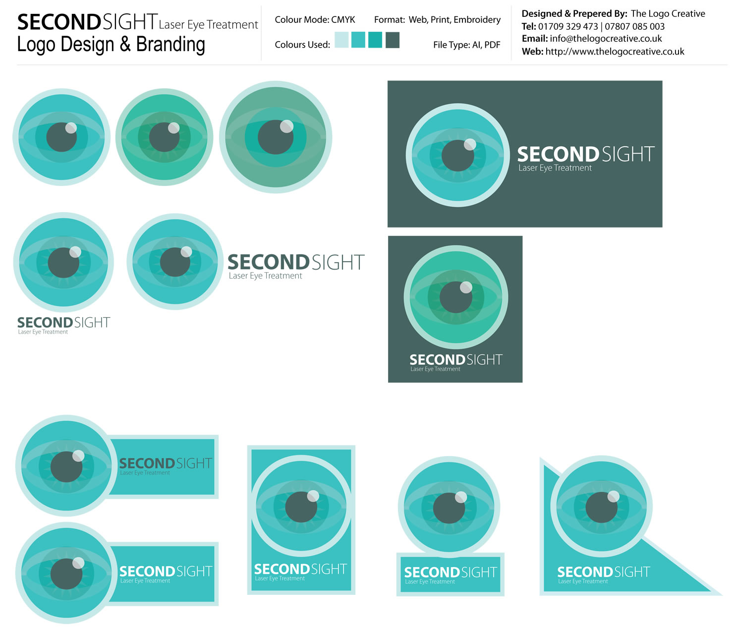 Second Sight Laser Eye Treament Logo and Brand Identity Design