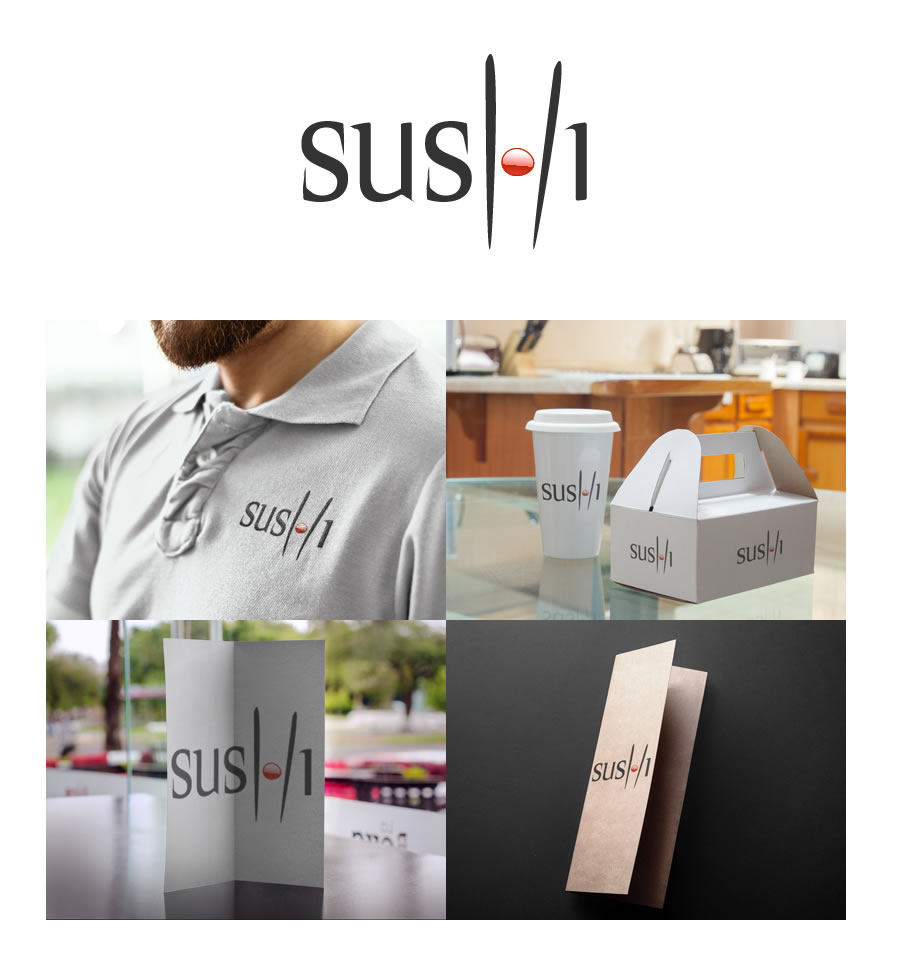 Sushi Logo Design and brand identity