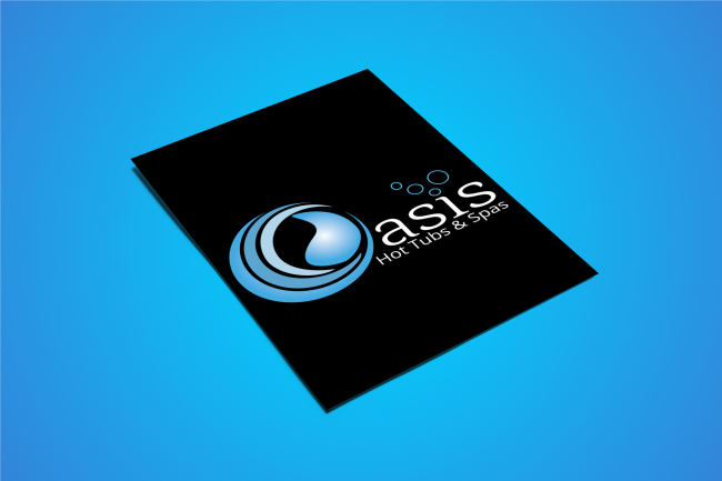 Oasis Hot Tubs & Spas Logo and Brand Identity Design