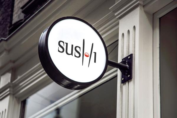 Sushi Restaurant Logo Design Brand Identity