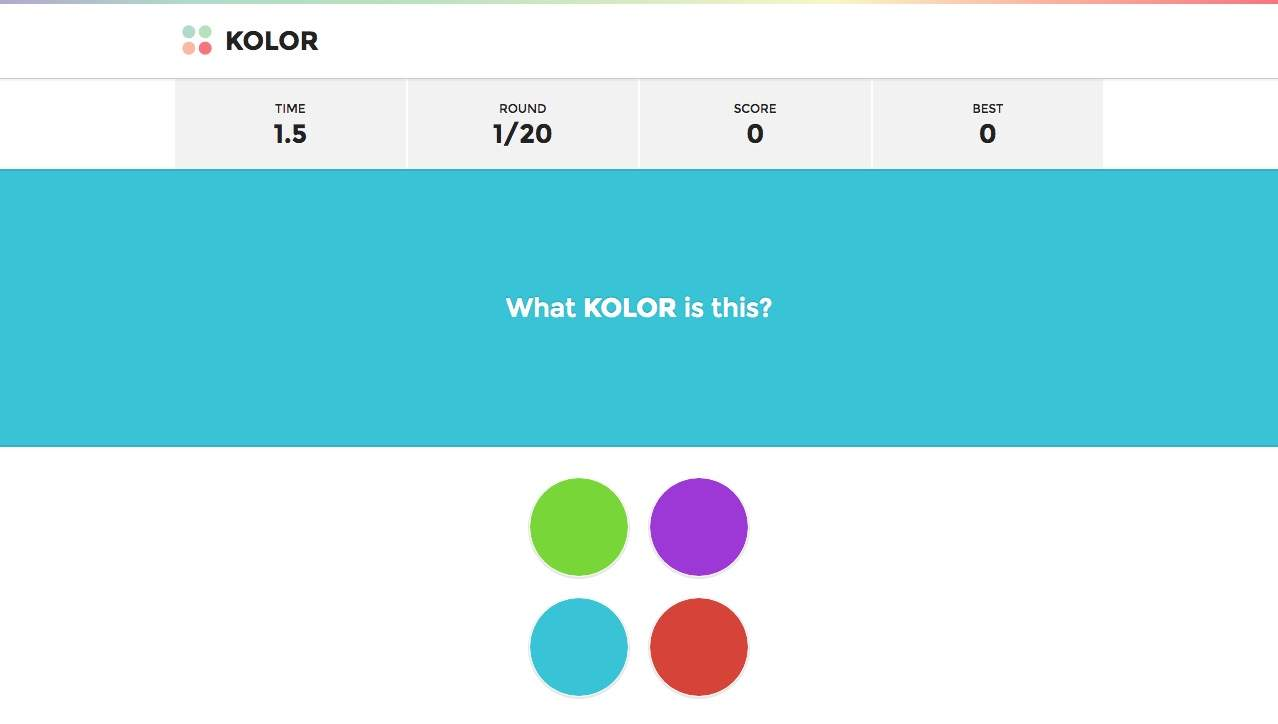 What Kolor Is This Colour Matching Game By Jorge Moreno
