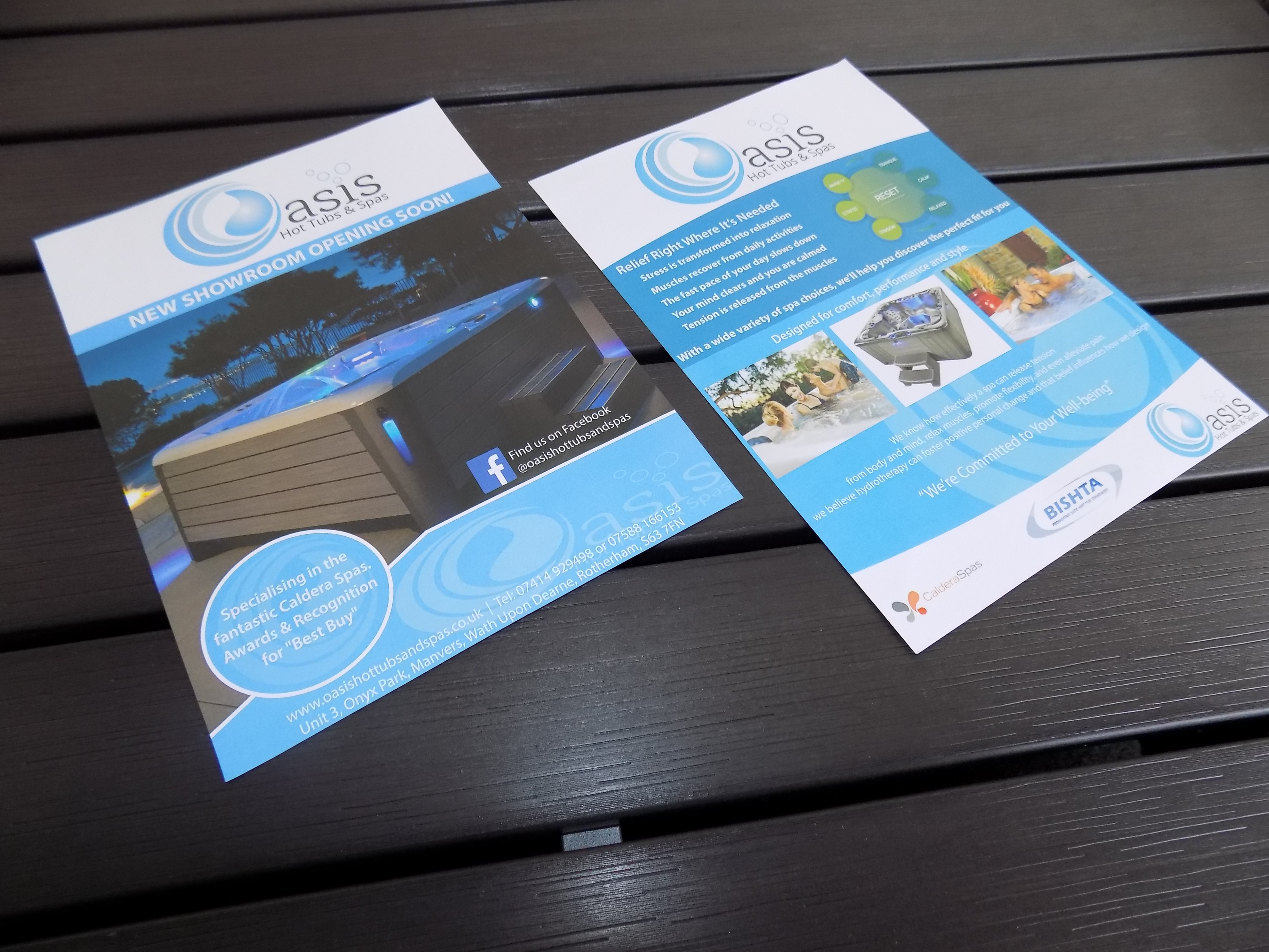 Oasis Hot Tubs Spas Flyer Design
