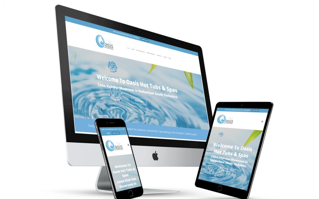 Oasis Hot Tubs And Spas Website Design