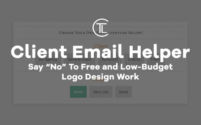 "Say ""No"" To Free and Low-Budget Logo Design Work"
