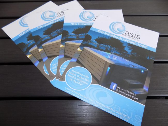 Oasis Hot Tubs & Spas Flyer Design, Print Design