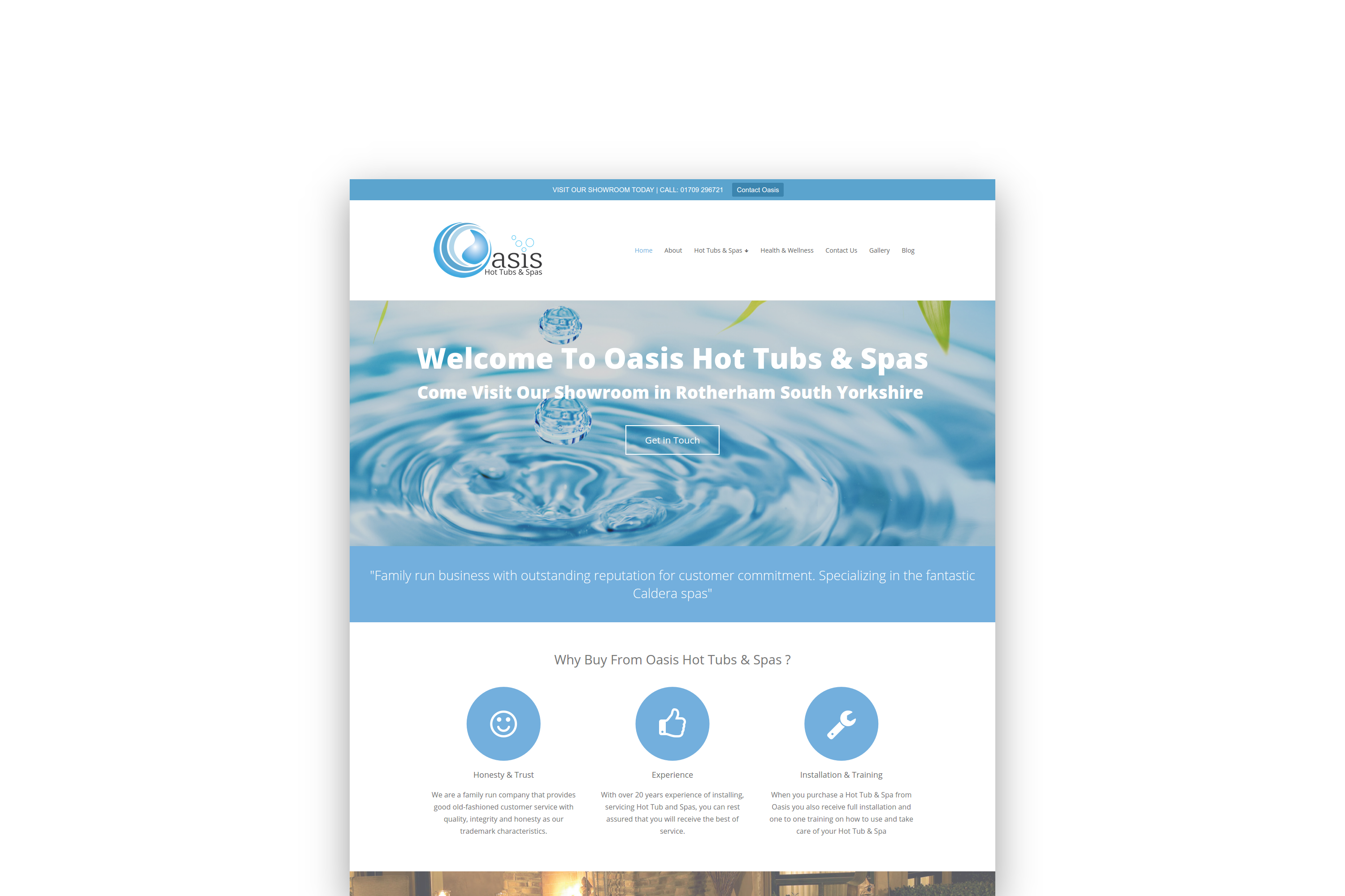 Oasis Hot Tubs And Spas Website DesignOasis Hot Tubs And Spas Website Design