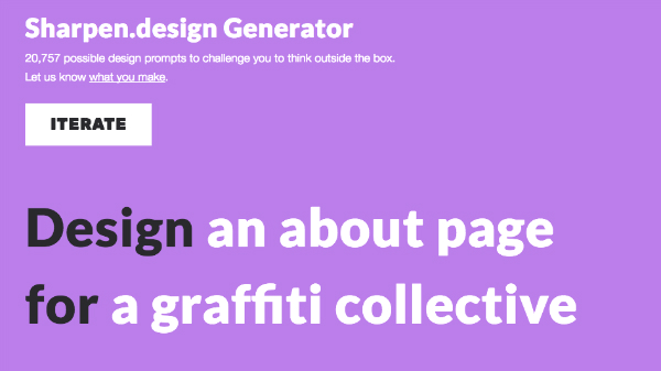 Sharpen design Generator: The Random Graphic Design Challenge
