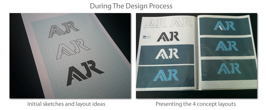 AJR Logo & Visual Brand Identity Conept Sketch Ideas
