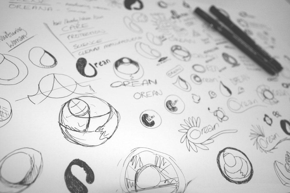 logo design concept sketching