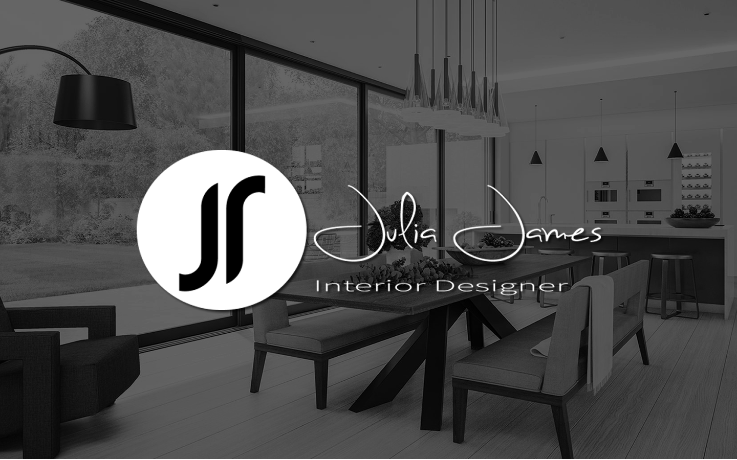 Julia James Interior Designer Logo Design & Brand Identity
