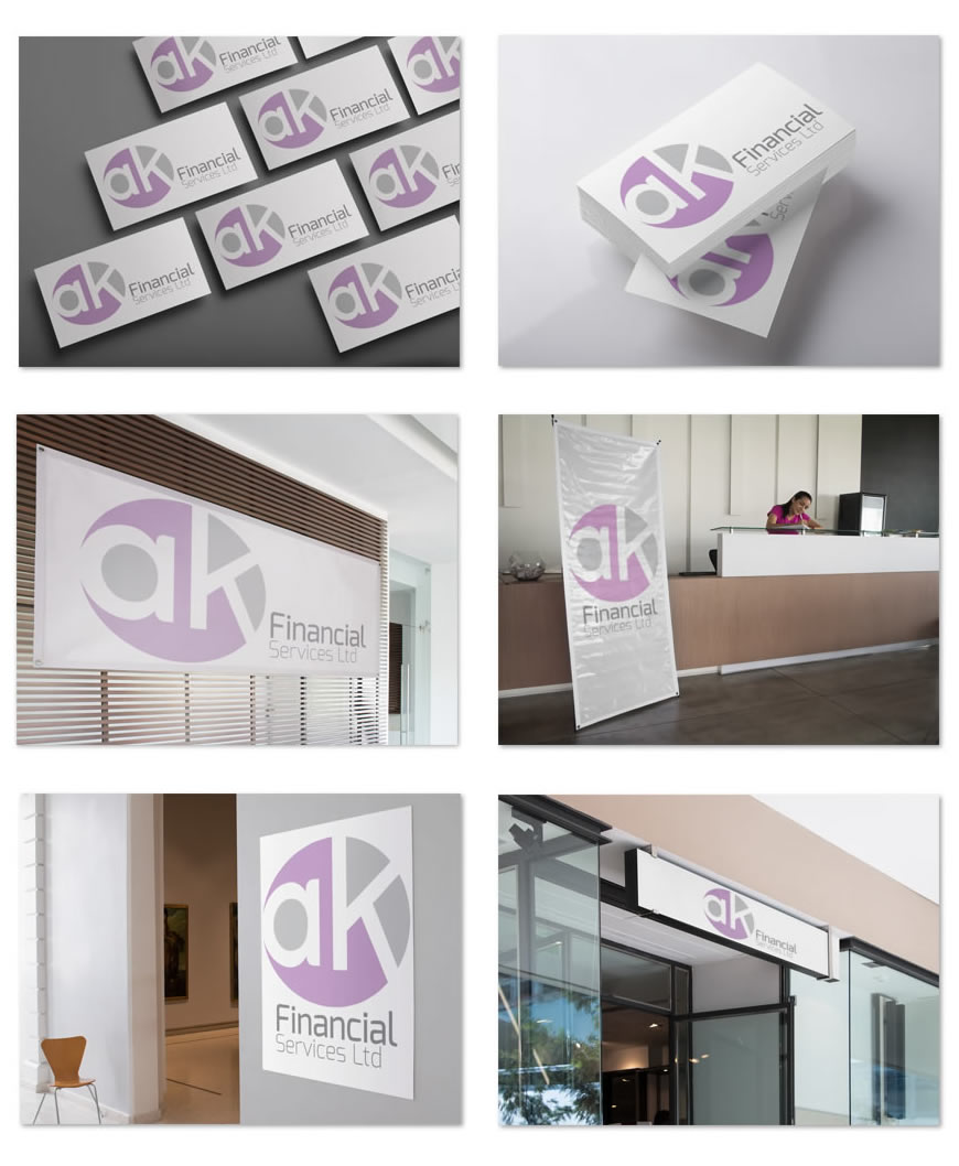 ak Finacial Services Logo and Brand Identity Design