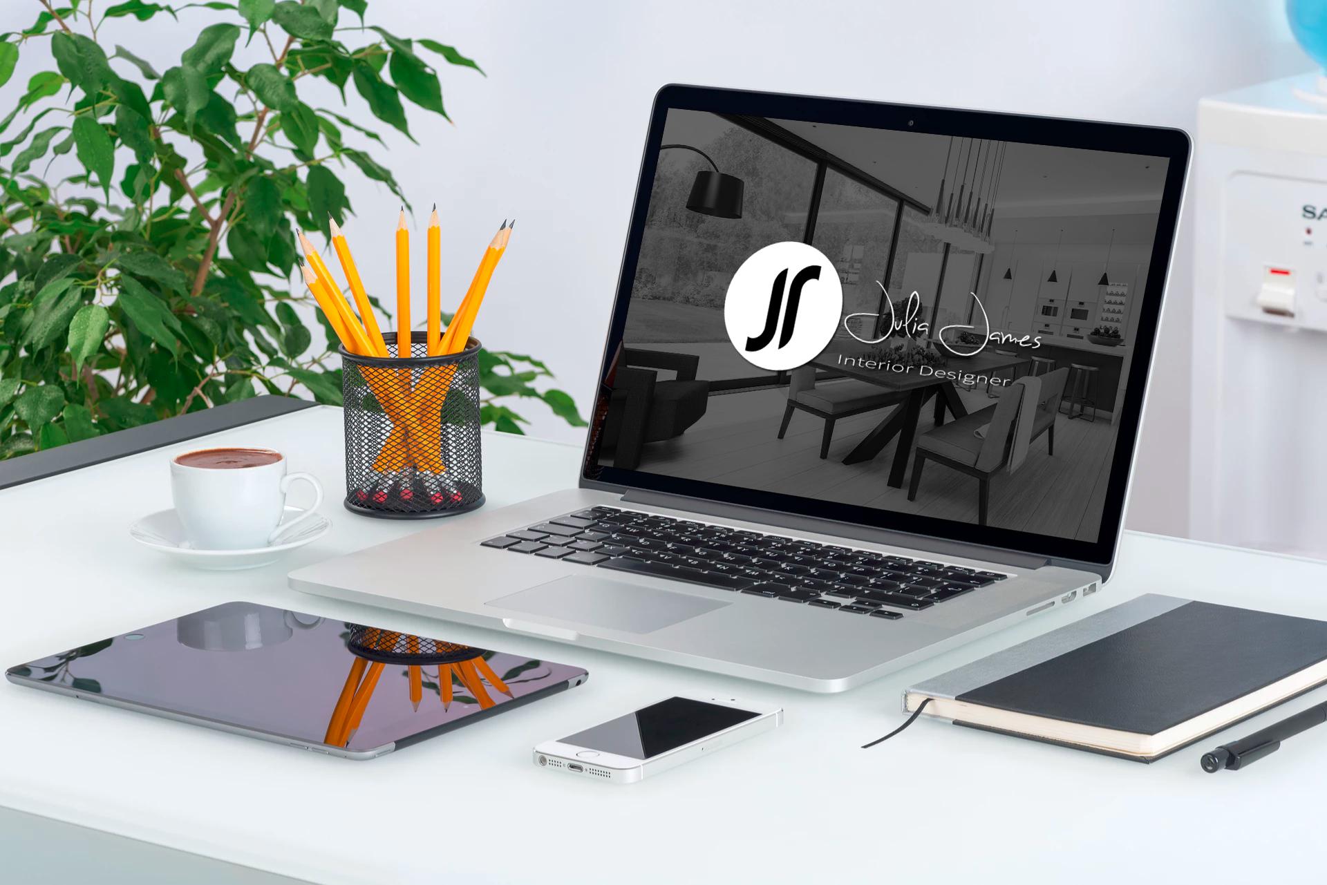Julia James Interior Designer Logo Design Brand Identity The Logo Creative Logo Design