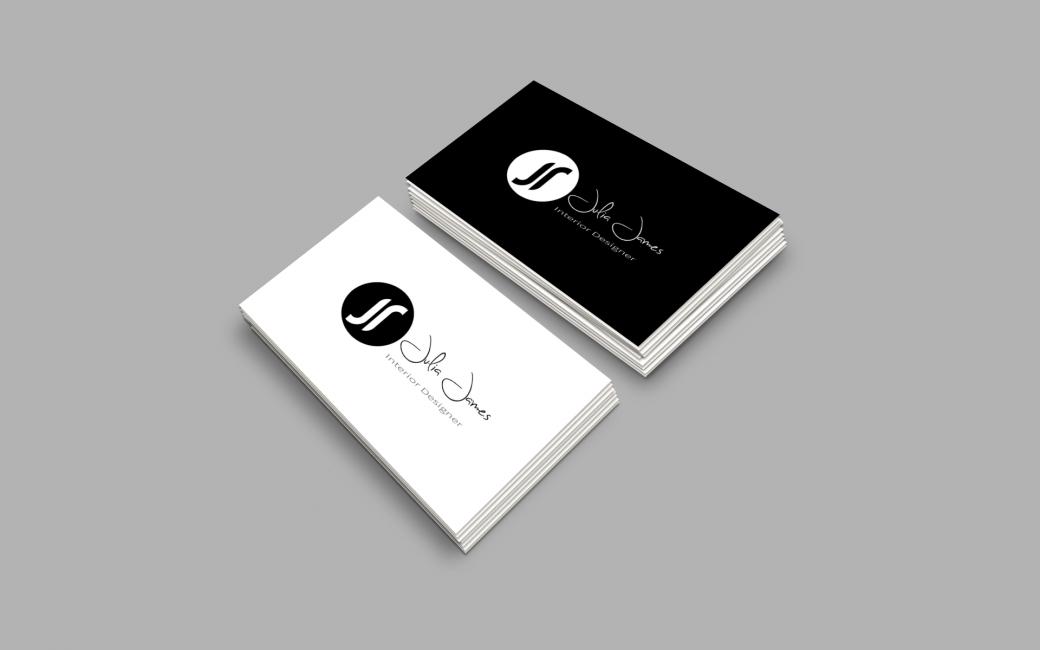 Julia James Interior Designer Logo Design & Brand Identity