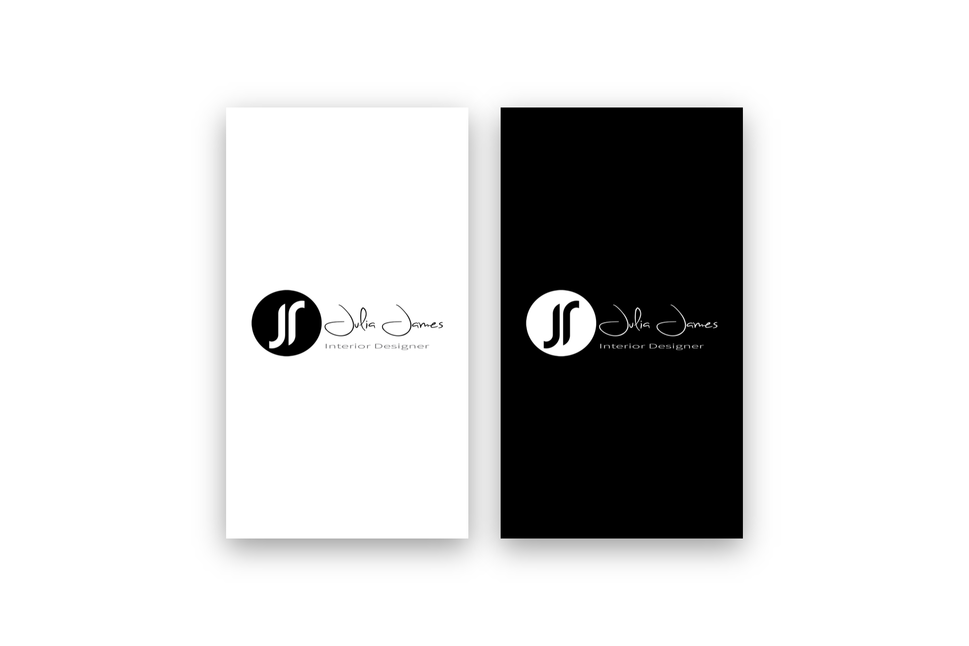 julia james interior designer logo design brand identity - Interior Design Logo Ideas