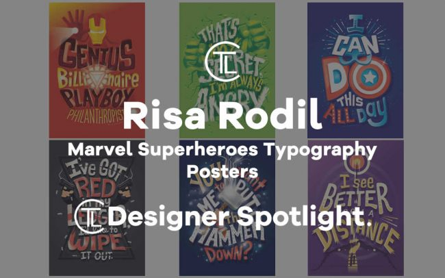 Marvel Superheroes Typography Posters