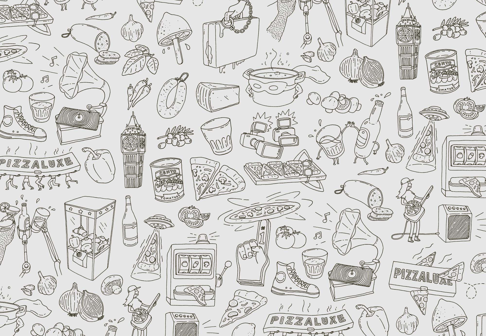 Pizzaluxe Brand Identity Spotlight
