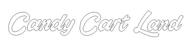 Candy Cart Land Typography