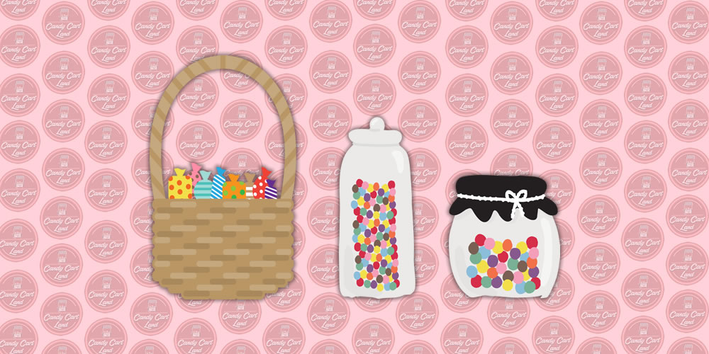 Candy Cart Land Sweets Jars_