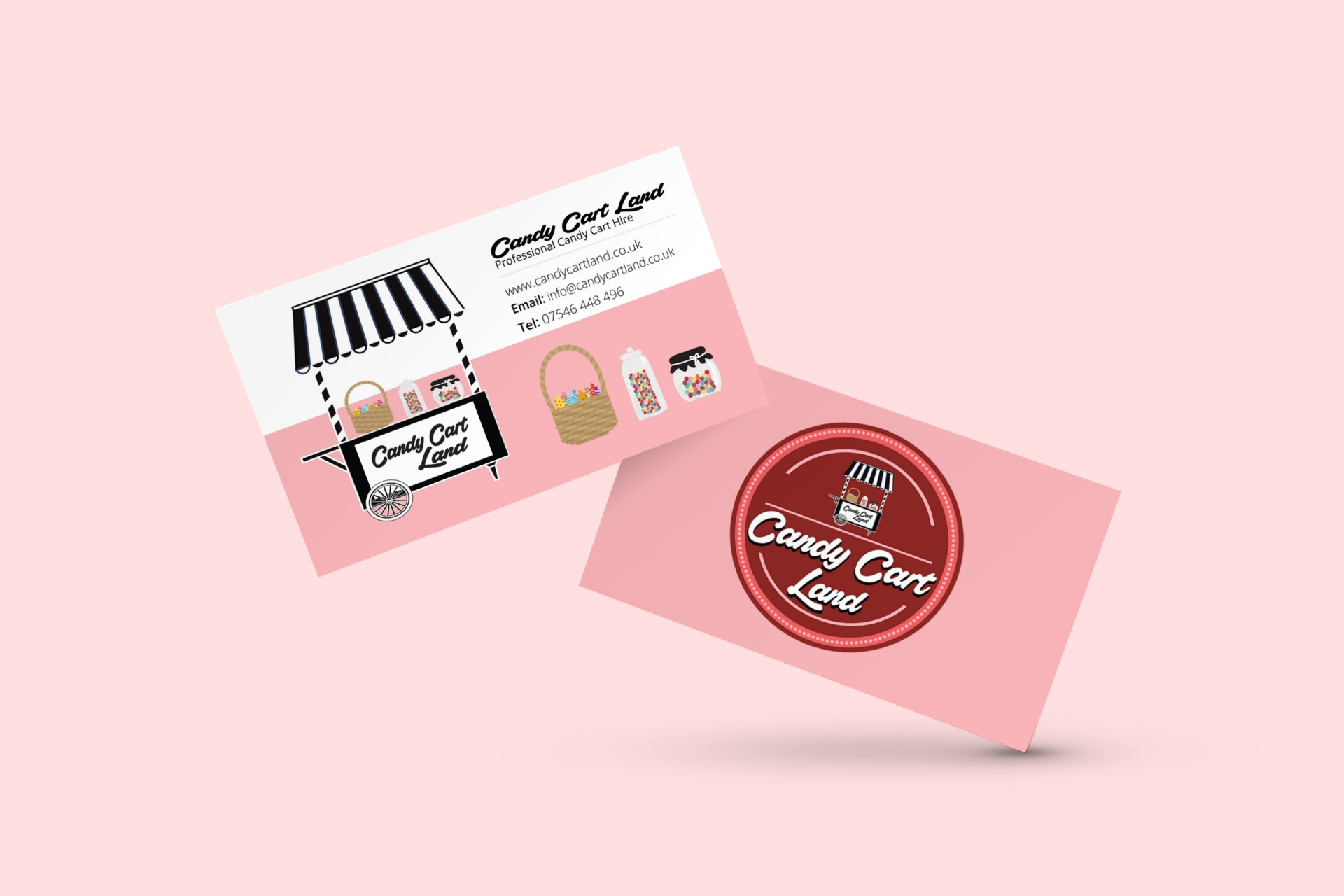 Business card archives the logo creative logo design brand candy cart land sweet cart hire rotherham sheffield doncaster barnsley south yorkshire colourmoves Image collections