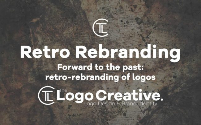 Forward to the past retro-rebranding of logos
