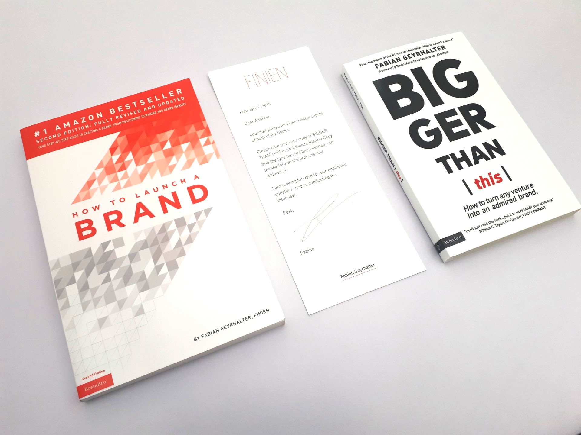 Bigger Than This: How to Turn Any Venture Into an Admired Brand by Fabian GeyrhalterBigger Than This: How to Turn Any Venture Into an Admired Brand by Fabian Geyrhalter