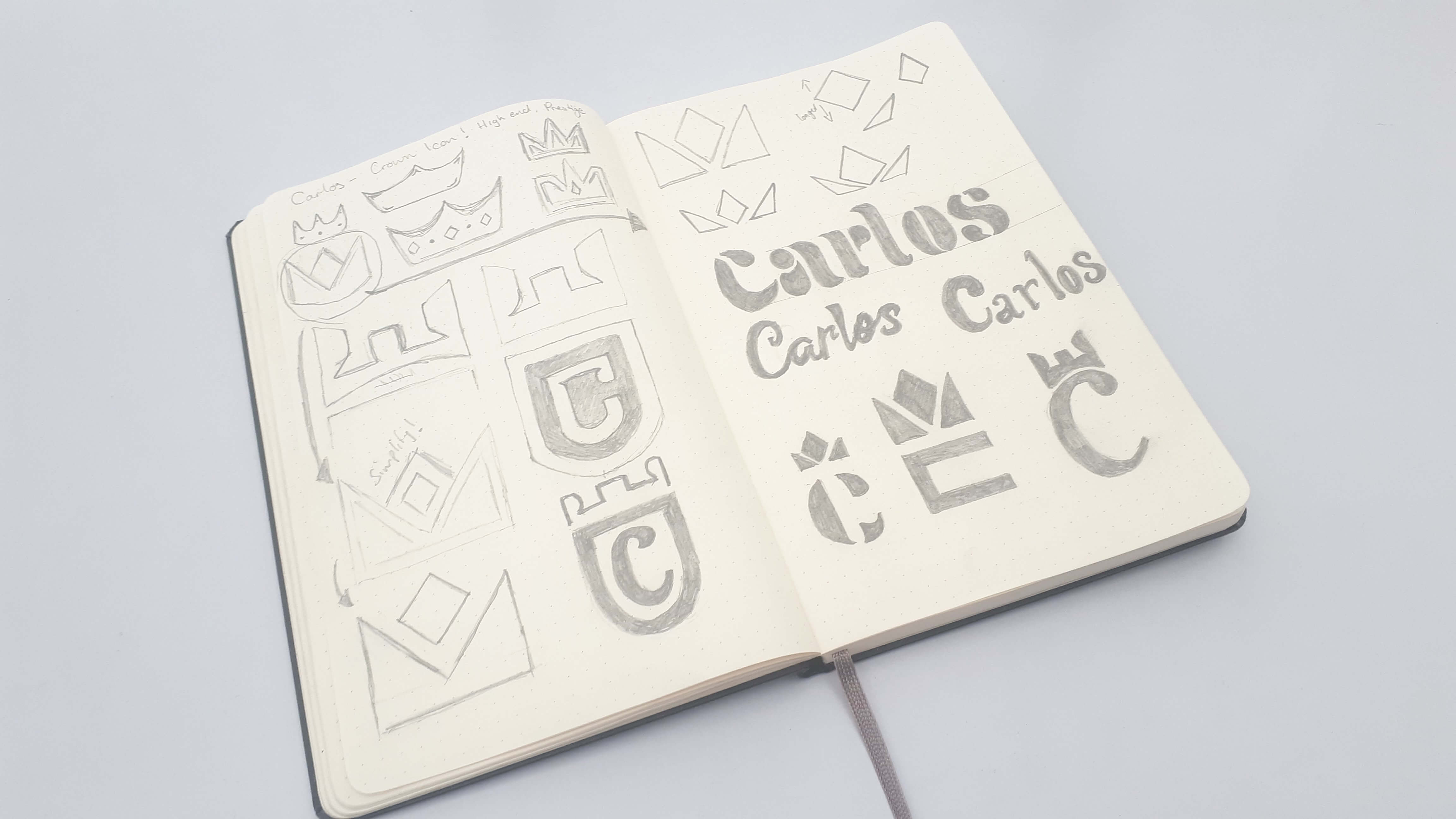 Carlos - Logo Design Sketches