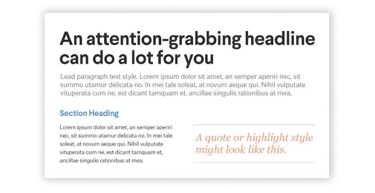 heading and subheadings - 5 Best Hierarchal Typographic Techniques For Beginners