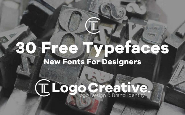 30 Free New Fonts For Designers