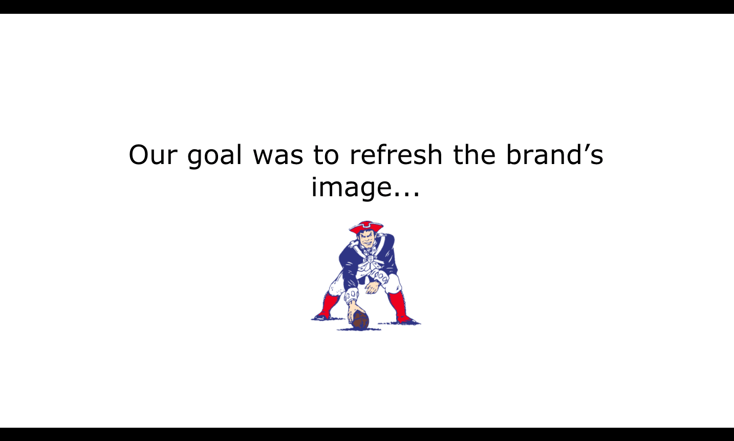 5 Tips to Structure Your Logo Presentation - NFL's New England Patriots