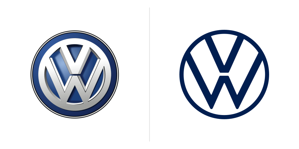 8 Biggest Logo Redesigns of 2019 That You Should Know - VW Logo Design 2019