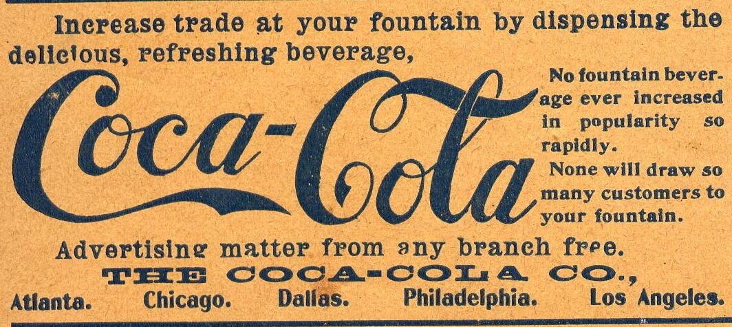 American Druggist 22 Oct 1900 Coca-Cola Ad