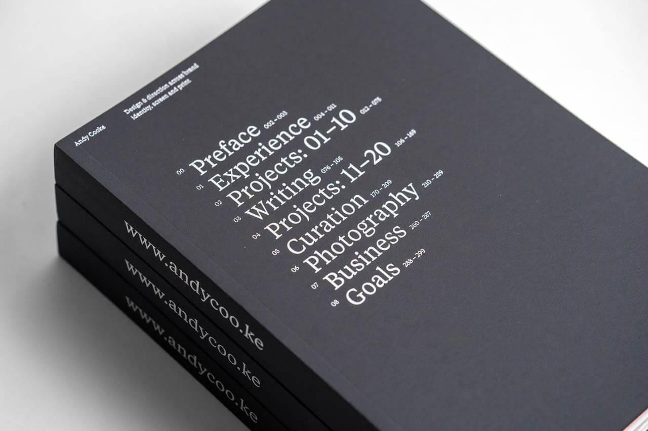 Andy Cooke Portfolio Book - The Logo Creative - Designer Interview