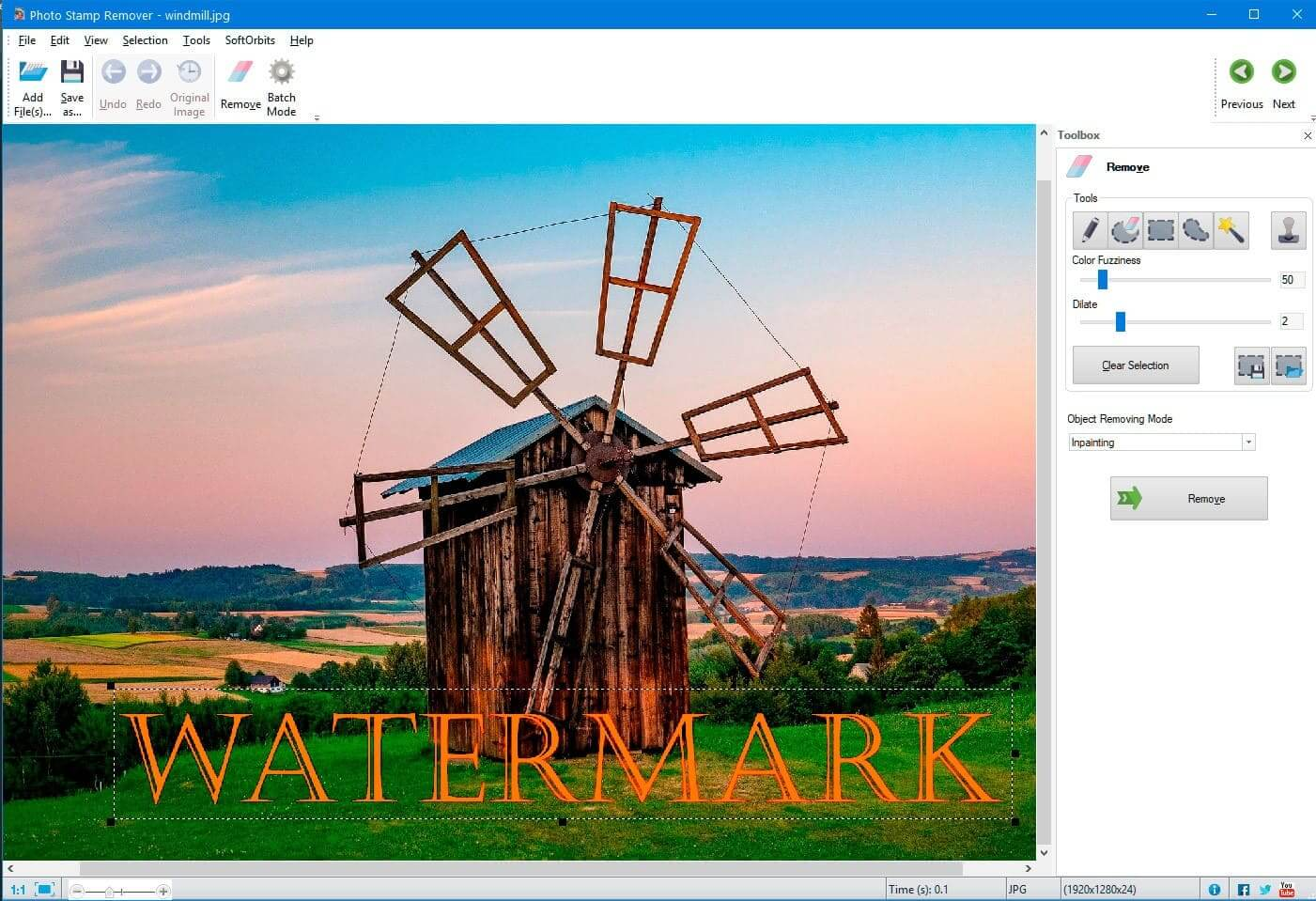 Applies of Watermark Remover Software 2