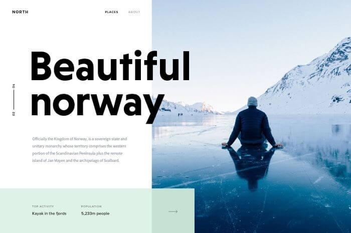 Asymmetry in web design