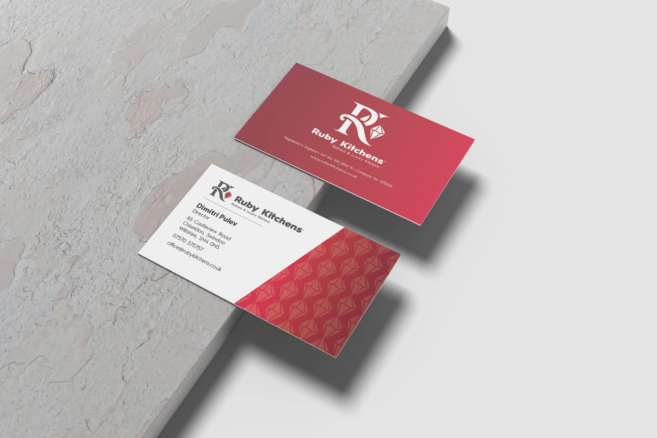 Ruby Kitchens Business Card Design