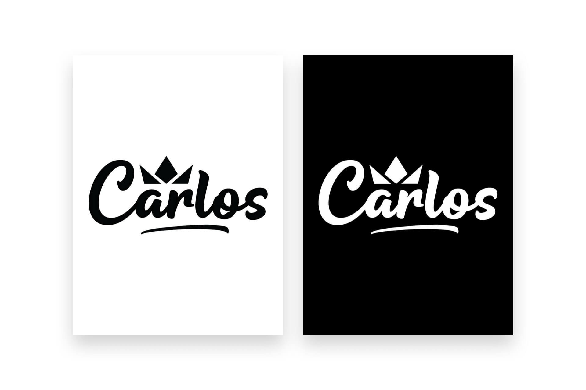Carlos Black and White Logo - The Logo Creative
