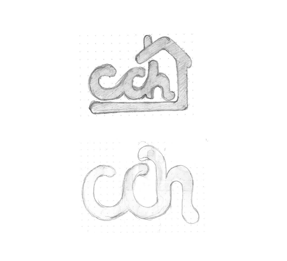 Chimney Cake House- Letter Mark Sketch Mockup
