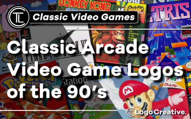 Classic Arcade Video Game Logos of the 90's