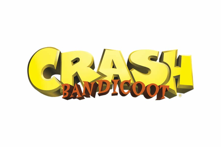 Crash Bandicoot logo design - Inspirational Arcade Game Logos of the 90's-min