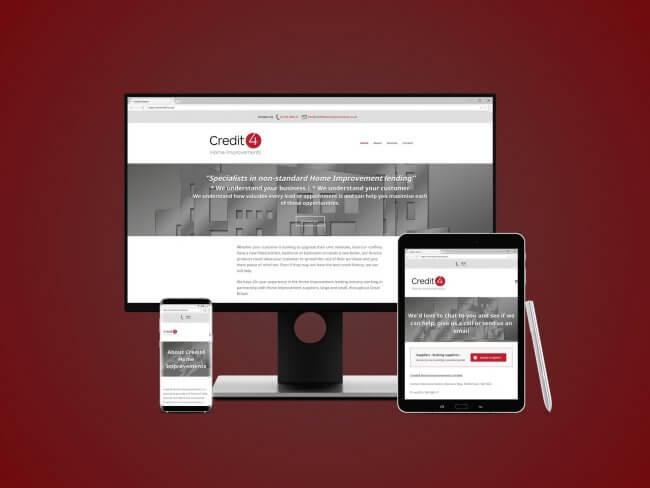 Credit4 Home Improvements Web Design