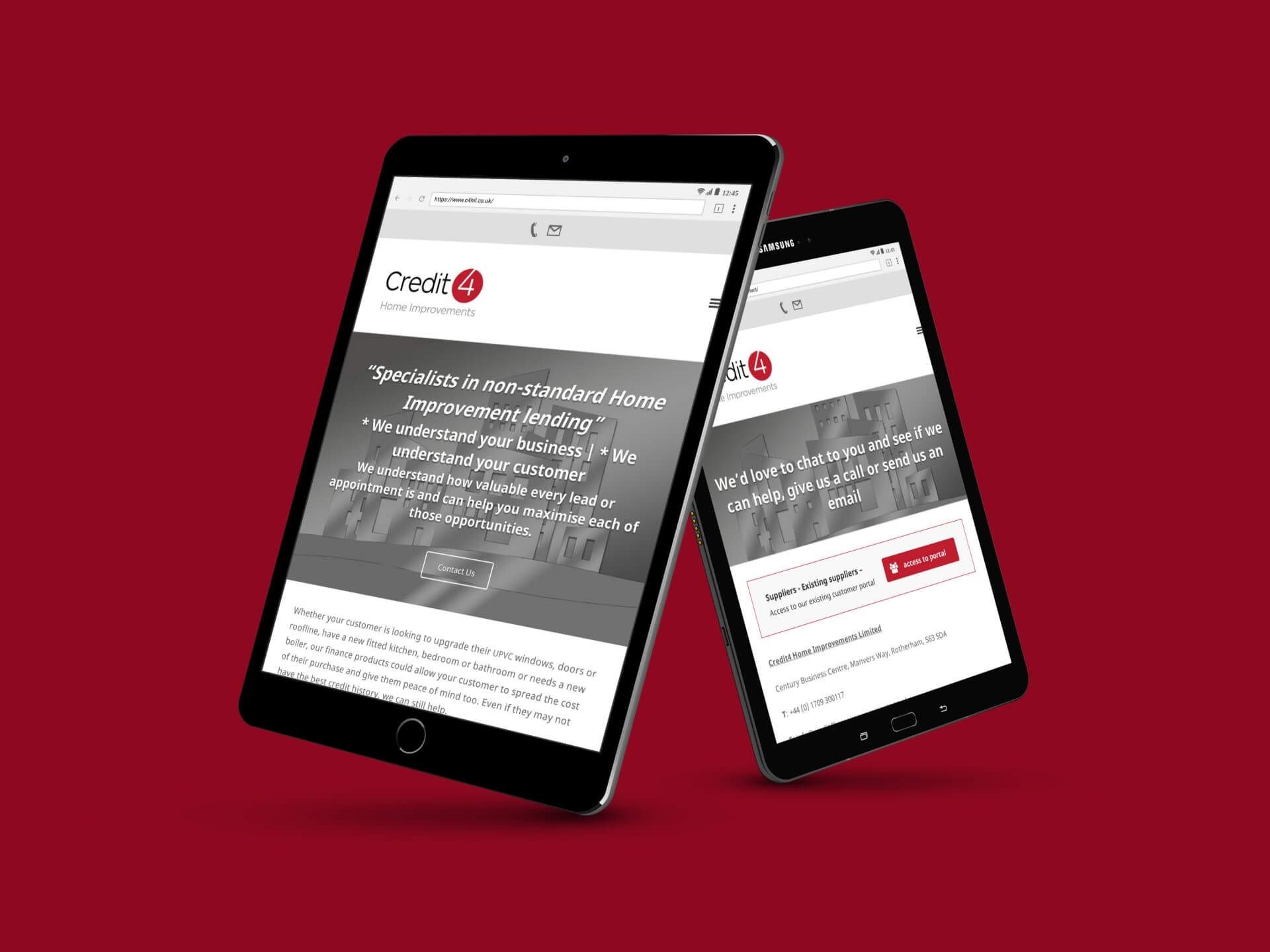 Credit4 Mobile Responsive Website design and development