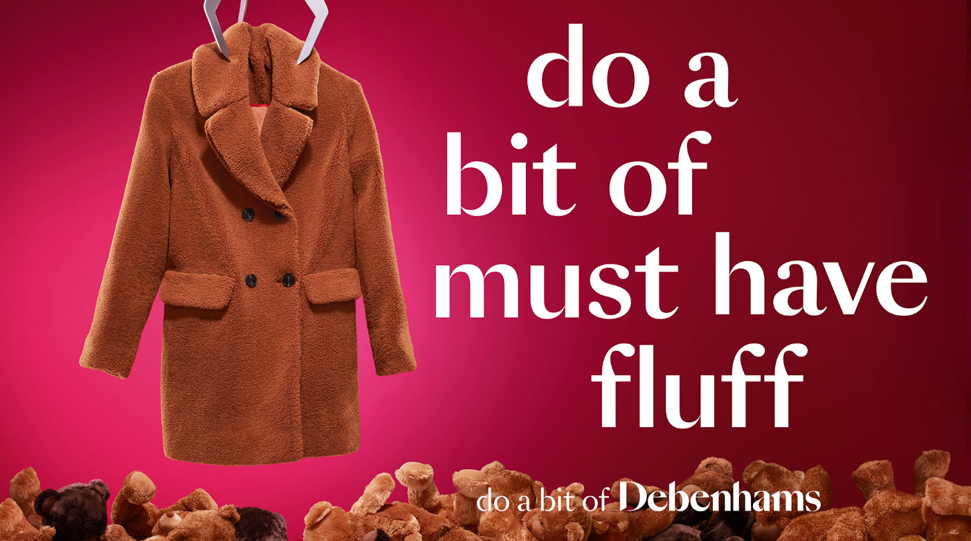 Debenhams Coat Clothing Advert
