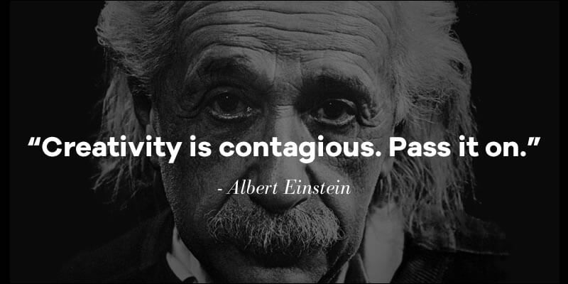 "Designer Interview With Jeremy Miller_Fav Quote ""Creativity is contagious. Pass it on."" It's attributed to Albert Einstein"