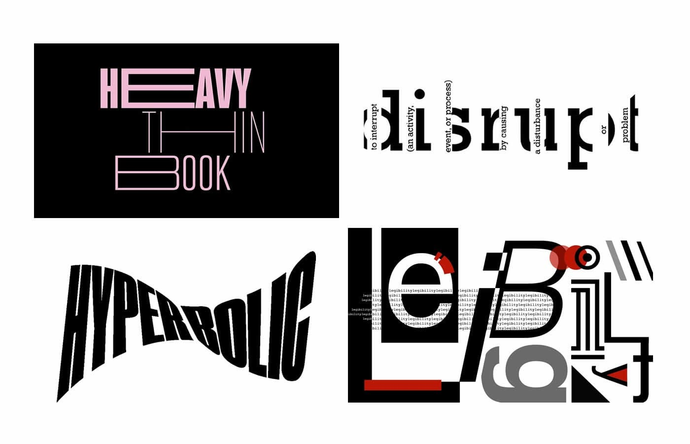 Disruptive Typography Design Trend 2021 - The Logo Creative