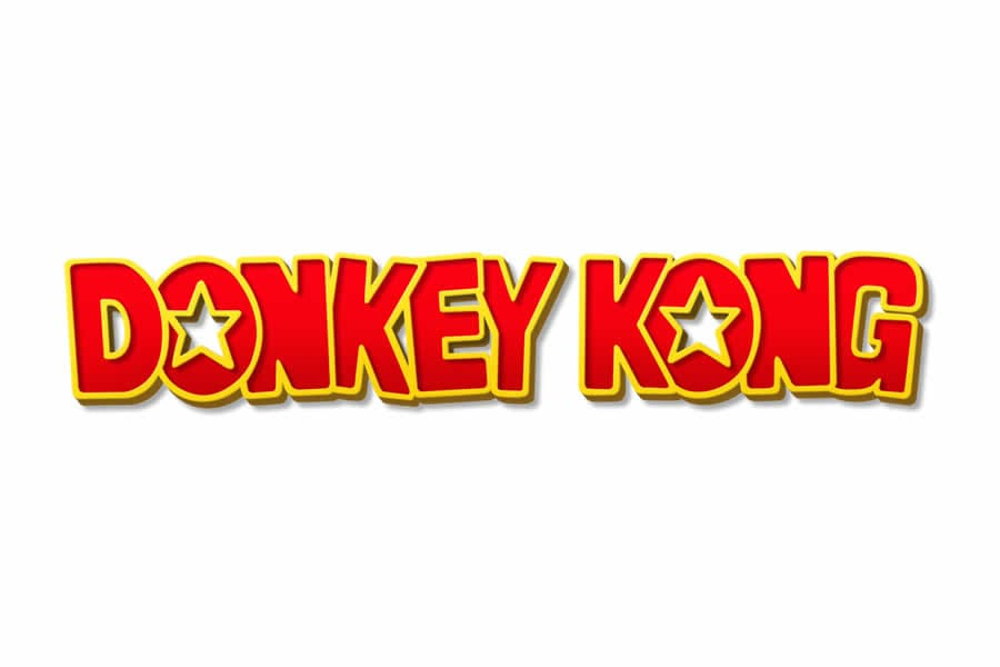 Donkey Kong logo design - Inspirational Arcade Game Logos of the 90's-min