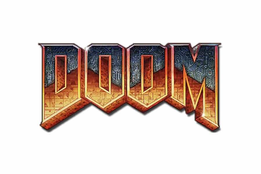 Doom logo design - Inspirational Arcade Game Logos of the 90's-min
