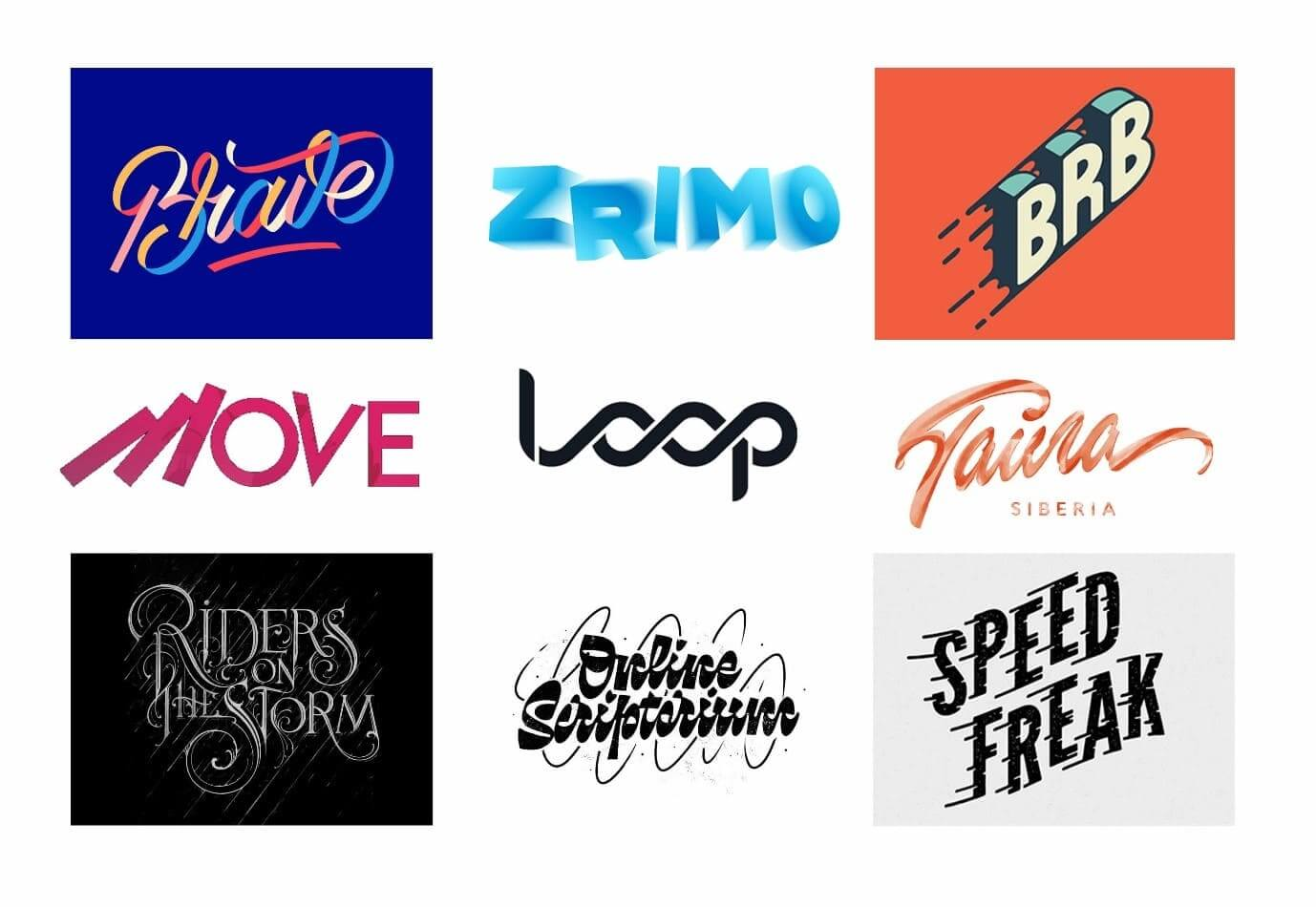Dynamic Lettering - Typography Trends 2021 - The Logo Creative