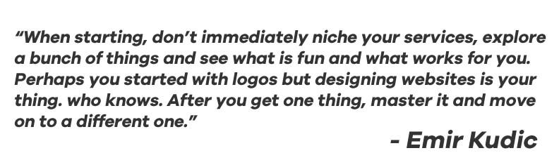 Emir Kudic Designer Quote